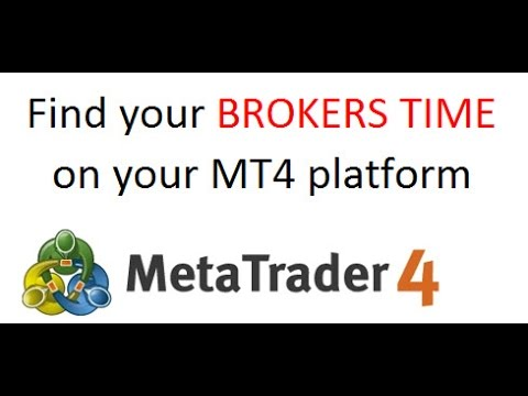 How to Find your MT4 Broker server time or timezone used on your MT4 Forex trading platform