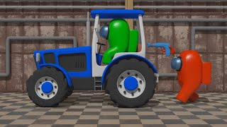 Animation - Tractor is leaving Earth  (Furious AMONG US Dance) 3D  - Among Tractor Us #1