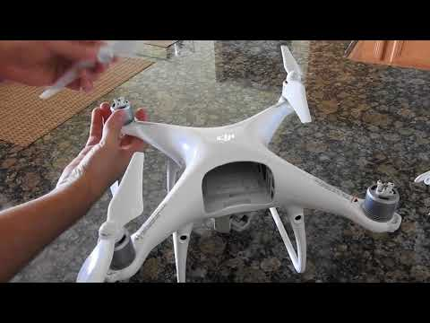 How To Put Propellers on DJI Phantom 4 Pro (Quick Video)