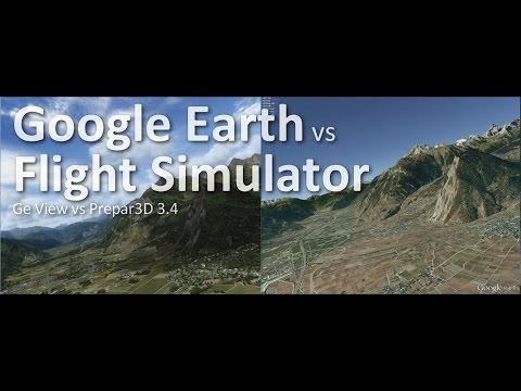 Google Earth vs Flight Simulator (Prepar3D 3.4)
