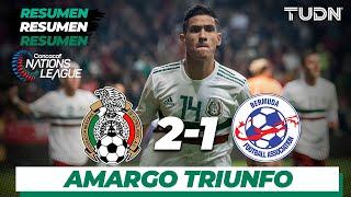 Resumen y goles   México 2 - 1 Bermudas   CONCACAF Nations League - J6   TUDN
