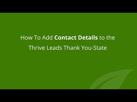 How to Add a Google Map and a Click to Call Button to the Thrive Leads Thank You-State
