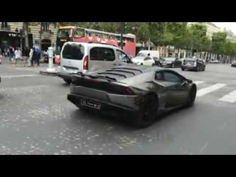 Black chrome Lamborghini Huracan LP610 from KSA (saudi arabia