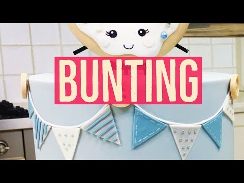 Easy Buttons & Bunting Cake - Dots, Stripes and Edible Colour Gels