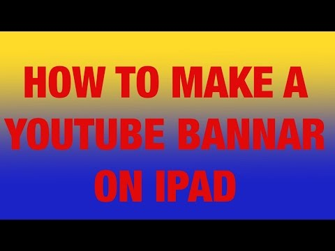 how to make a YouTube banner on your iPad with ArtStudio for ipad