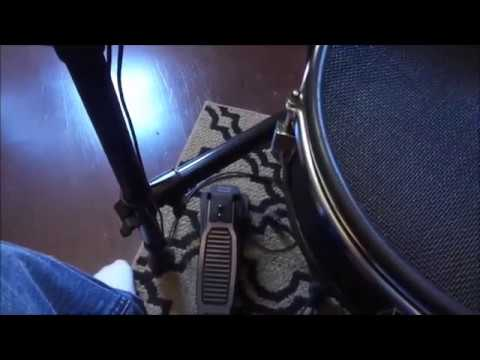 How to set your high hat pedal to a kick drum pedal on alesis nitro drum kit