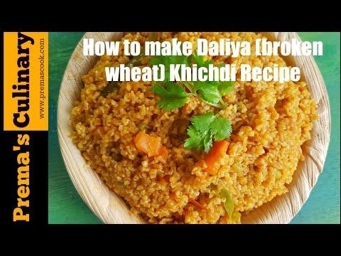 Dalia (Broken Wheat) Khichdi in Pressure Cooker, Quick Breakfast Recipes