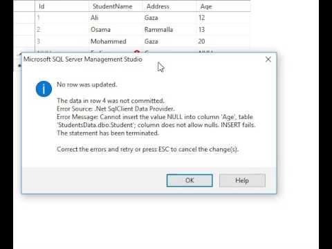 شرح بالعربي(SQL Server 2014  Tutorial  -  How to set column Allow Nulls and save changes)