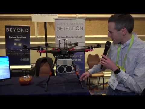 Fortem Drone Hunter - It shoots down drones with radar - CES 2018 snippet