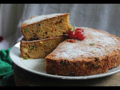 Christmas Fruit Cake / Rich Plum Cake on Pressure cooker / Stove top baking