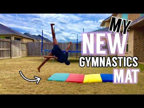 TUMBLING ON MY NEW GYMNASTICS MAT | Totally Gymnastics
