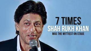 7 Times Shah Rukh Khan Was The Wittiest On Stage | SRK Filmfare | Yale University | CNN News18
