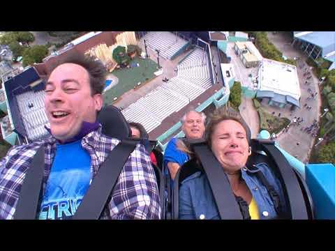 Electric Eel Roller Coaster at Seaworld