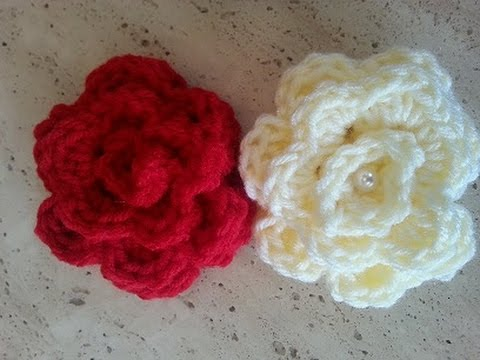 Helenmay Crochet Quick and Easy Rose DIY Tutorial