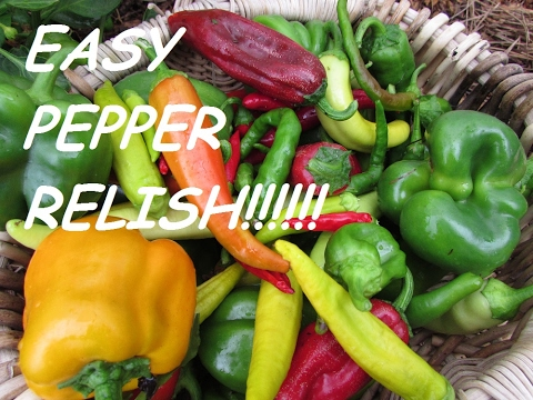 PEPPER RELISH~ HOT ORGANIC AND CANNED FOR THE PANTRY