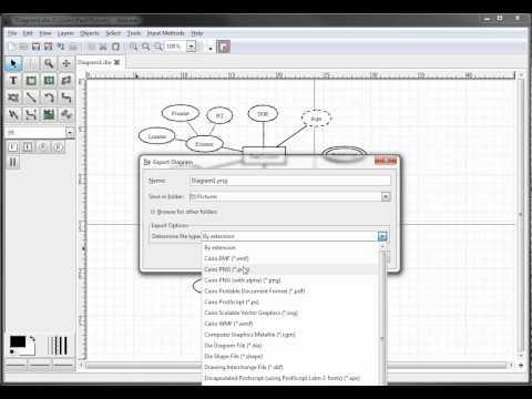 ER Diagrams in Dia - Exporting Your Diagram