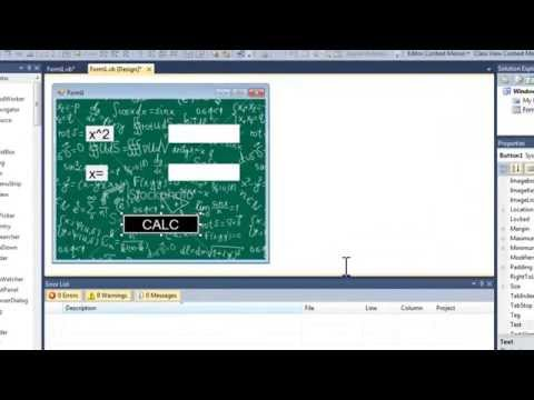 HOW TO MAKE A SQUARE ROOT CALCULATOR VISUAL BASIC 2010