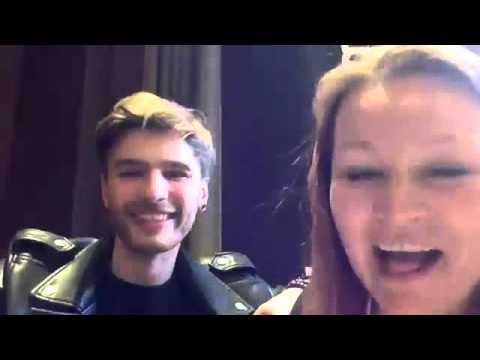 Justs (Latvia) chats on the escXtra LDN Live Stream