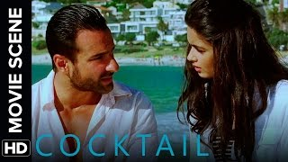 Saif flirts with Diana   Cocktail   Movie Scene