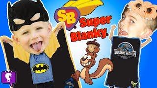 TOY Hero BLANKY CAPE! Batman and Dinosaur ! Children