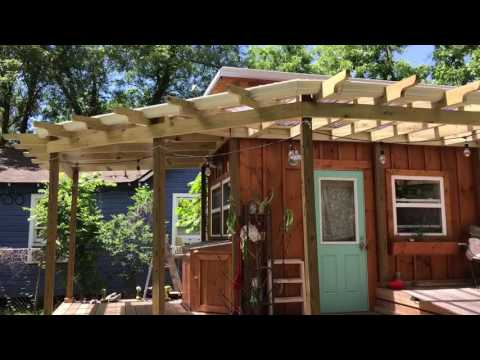 Off grid contracting solar upgrade on off grid  tiny house and outside tour