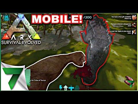 ARK SURVIVAL MOBILE I SHIT MYSELF!!!   ARK: Survival Evolved Mobile  pt. 2