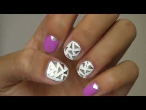 Nail art with ALUMINUM FOIL