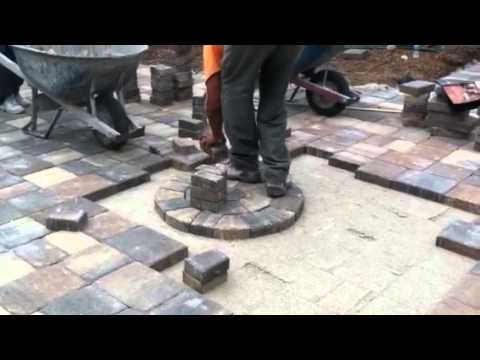 How To Start the Paver Circle - Video from My Phone