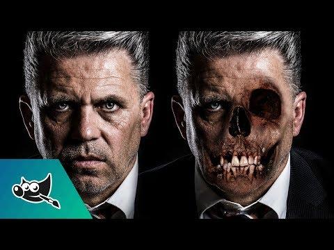 GIMP Tutorial: Skull Face