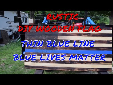 HOW TO MAKE A TORCHED RUSTIC WOODEN FLAG