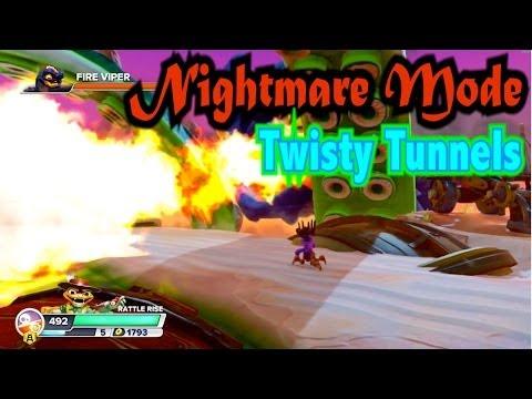 Skylanders Swap Force - Twisty Tunnels - Nightmare Mode