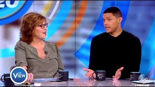 trevor noah chats trump freedom of speech the view