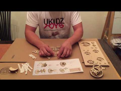 UGears Theater Mechanical Wooden model assembly video by Ukidz Toys