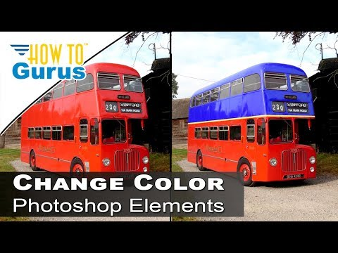 How to Change Color of Anything Replace Color Tool Adobe Photoshop Elements 2018 15 14 13 Tutorial