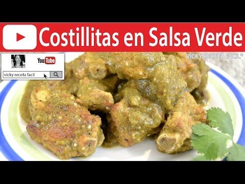 CÓMO HACER COSTILLITAS EN SALSA VERDE | Vicky Receta Facil