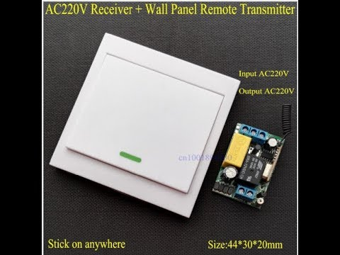 WiFi Remote Control Switch AC 220V Receiver Wall Panel Remote Transmitter TX unboxing