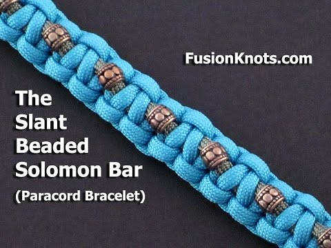 How to Make a Slant Beaded Paracord Solomon Bar by TIAT