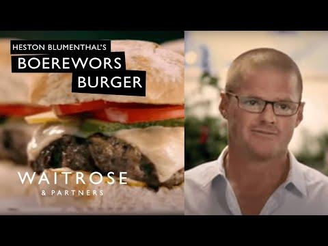 Boerewors burger recipe from Heston and Waitrose