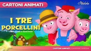 I Tre Porcellini 😊 - Favole e Cartoni Animati Italiano - Storia e Canzoni per Bambini