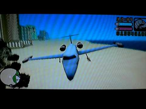 Grand Theft Auto Vice City Stories (GTA VCS, PSP) - Flyable Learjet (Cheatdevice)