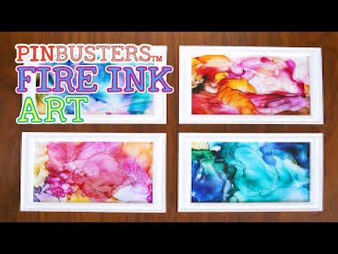 Fired Ink Art // DOES THIS COOL ART HACK REALLY WORK?