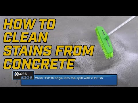 How to Clean Stains from Concrete