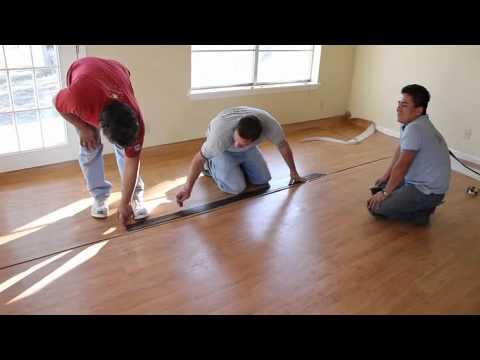 Installing a vinyl floor (wood pattern)
