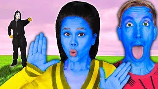 VY & CHAD UNDERCOVER in DISGUISE as BLUE MAN GROUP TO TRICK PROJECT ZORGO (Music Battle Royale)