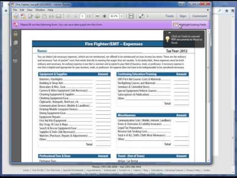 Kenyon Tax - Special Worksheets