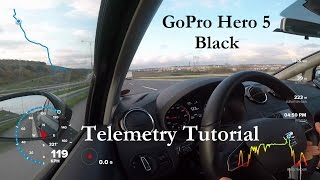 GoPro Hero 5 Black - GPS Telemetry Tutorial with Quik App