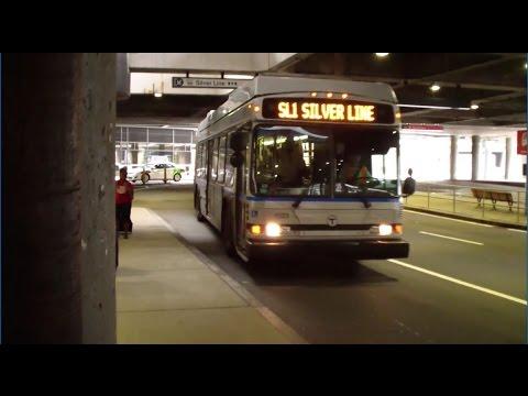 MBTA Silver Line Buses & Logan Airport Shuttles at Terminal C