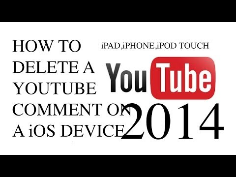 How To Delete A Youtube Comment On A iOS Device iPod iPhone iPad 2014
