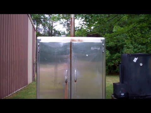 How I Converted And Old Freezer/Refrigerator Into A Awesome Smoker! Smoke Baby Smoke!