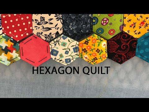hexagon fabric quilt update scrappy